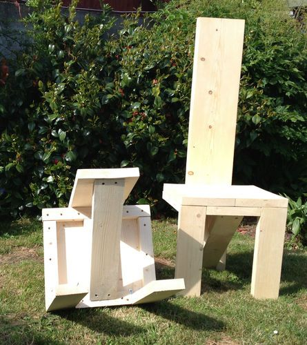 Rustic Hand made Wooden Pine Garden Chair Furniture Reclaimed Scaffolding  Boards  Gardens, Pine and Garden chairs