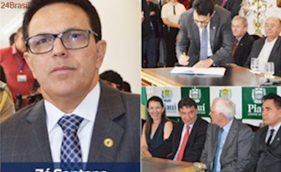Zé Santana assume como secretário de Assistência Social do Piauí; fotos