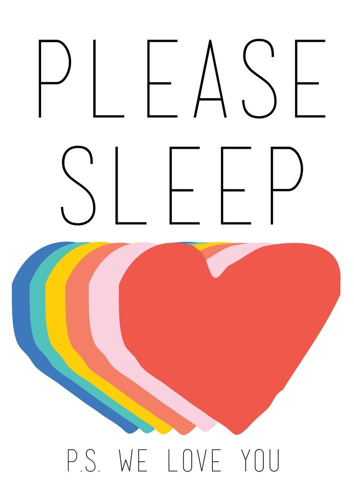 Please Sleep | Rainbow on White Hello Yellow