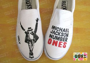 2013 hot sell hand-painted shoes Michael Jacksonshoes $1201,63