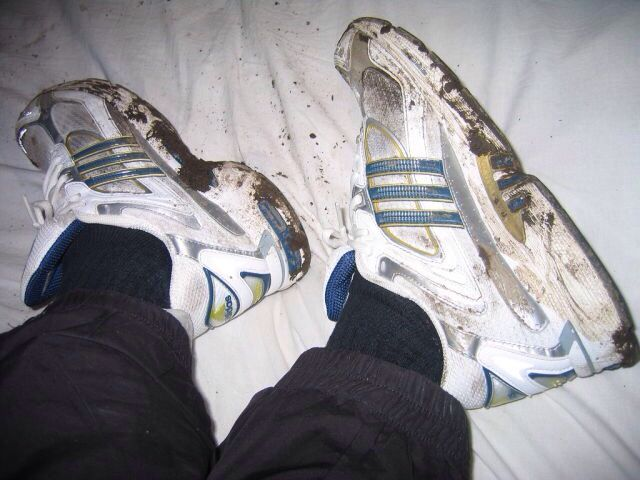 Dirty Adidas Shoes