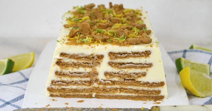 Una tarta muy fácil y deliciosa de leche condesada, limón y galletas.