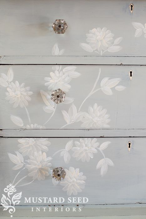 how I hand painted the Mora dresser - Miss Mustard Seed