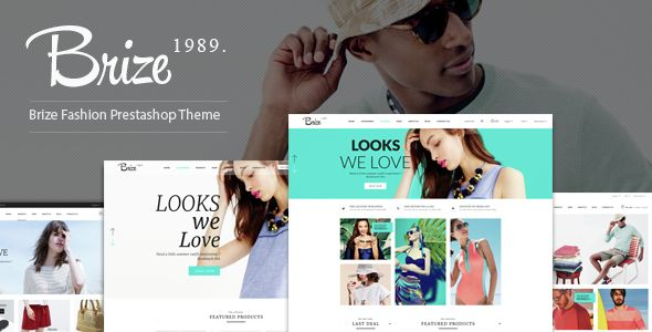 Brize is a Fashion Responsive Prestashop Theme offers many flexible features, advantages of Prestashop and our extensions. This theme is looking good on all
