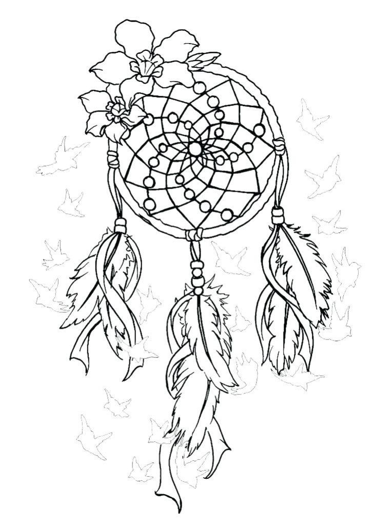 Dream Catcher Coloring Pages Best Coloring Pages For Kids Dream Catcher Coloring Pages Coloring Books Mandala Coloring Pages