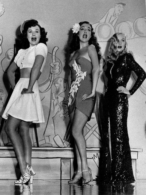 Paulette Goddard, Dorothy Lamour and Veronica Lake