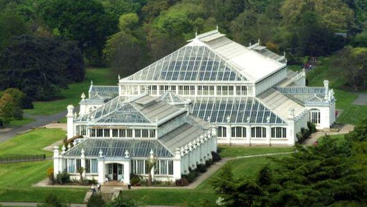 The Temperate House at the Royal Botanic Gardens at Kew in London, England. The largest surviving Victorian glasshouse in the world, it covers 5,850 square yards and extends to 63 feet high. www.kew.org
