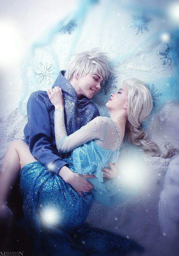 My Guardian by densha-otoko (Jack Frost - Kai Izovsky (Reiz Vaitz); Elsa - sansreve; photo by MilliganVick) #cosplay
