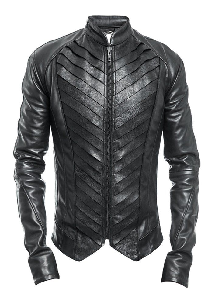 Delusion | Splice Leather Jacket Black