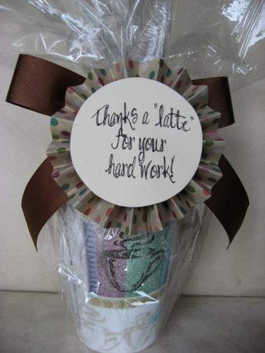 Cute idea for a thank you