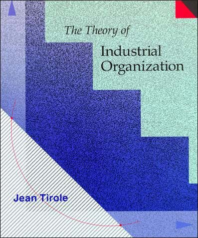 Each chapter opens with elementary models and builds on this base to incorporate current research in a coherent synthesis. Tirole begins with a background discussion of the theory of the firm. In part I he develops the modern theory of monopoly, addressing single product and multi product pricing, static and intertemporal price discrimination, quality choice, reputation, and vertical restraints...Cote : 9-492 TIR