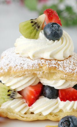 Lemon Cream Puffs with Fresh Fruit - from the Sweet Something Teashop.