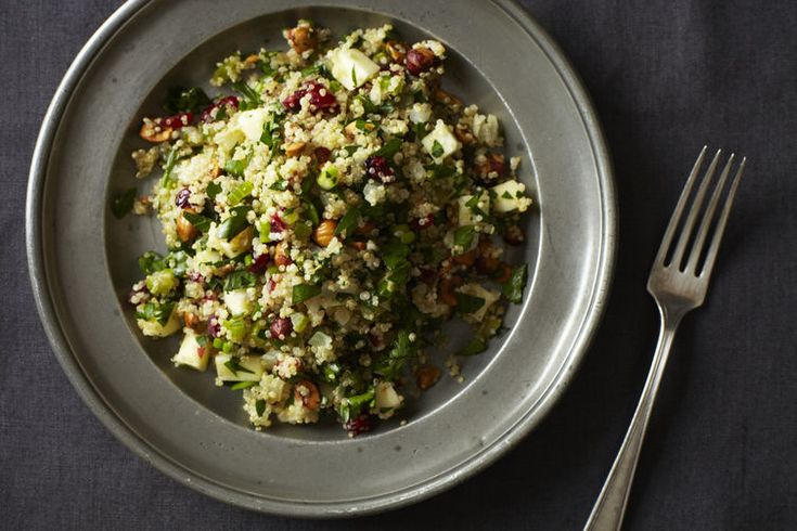 Quinoa Salad with Hazelnuts, Apple and Dried Cranberries         By darksideofthespoon           • June 20, 2012           •                ...