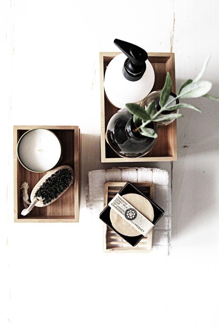 Inspiration du bois dans la salle de bain accessories bath accessories a - Salle de bain accessoires ...
