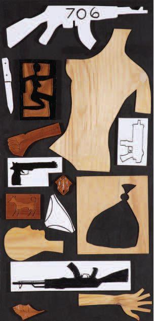 Autor: Hugo Pérez // Guatemala // 706 // Plywood y madera tallada