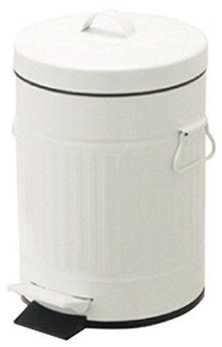 Amazon|PL ゴミ箱 ペダルビン ラウンドS ホワイト 61279|ペダル式ゴミ箱 オンライン通販