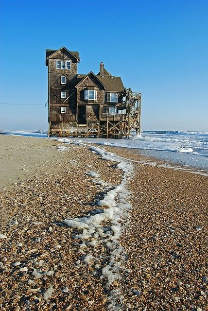 Serendipity (house from Nights in Rodanthe) was recently purchased by a Newton, N.C., couple who wanted to save it from destruction on the eroding beach. The house had recently been declared a nuisance by Dare County, NC.