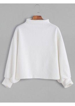 Gerippte Pullover 2017 Weiss