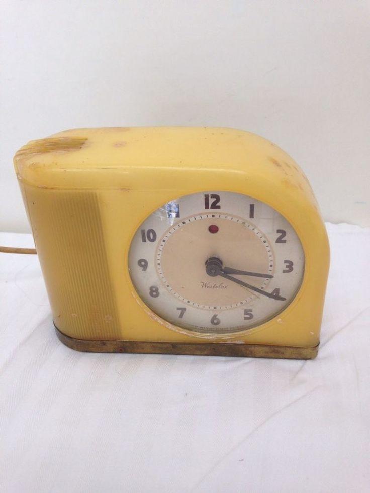 Art Deco 1940s Westclox Butterscotch Moonbeam Electric Clock & Light Works | Antiques, Periods & Styles, Art Deco | eBay!