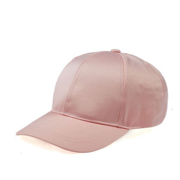 Unisex Polyester Satin Fitted Baseball Hat Plain Adjustable Sports Cap (26 BRL) ❤ liked on Polyvore featuring accessories, hats, fitted hats, ball cap, fitted baseball caps, brimmed hat and satin cap