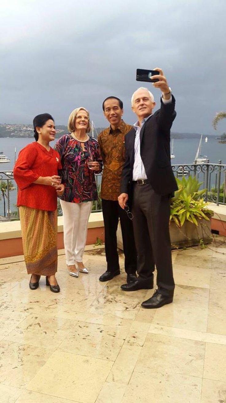 Selfie dengan PM Turnbull, Jokowi: Kunjungan Singkat nan Berkesan