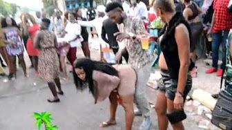 SANNI UNDRESS AND GOES WILD FOR HALF A DOG Jamaica Dancehall Videos - YouTube