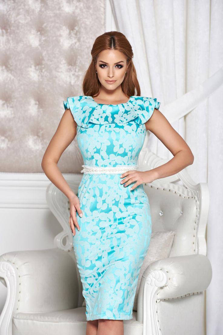Comanda online, Rochie StarShinerS Distinctive Look Turquoise. Articole masurate, calitate garantata!