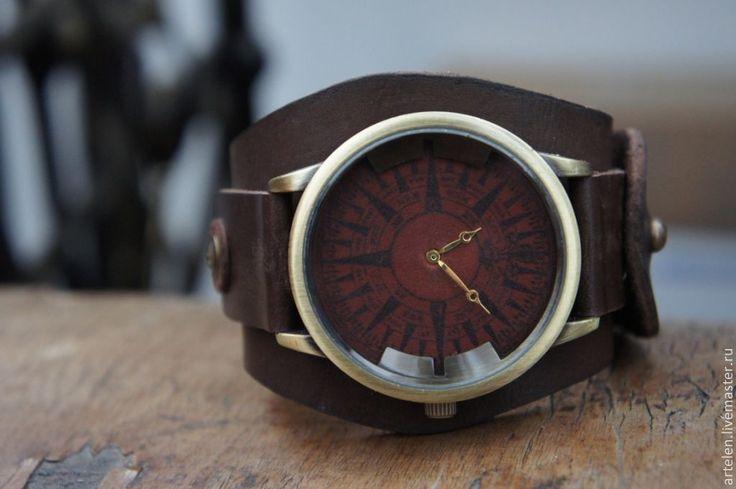 """Купить Часы """"Старый компас"""" - часы, часы мужские, часы для мужчины, часы для парня"""