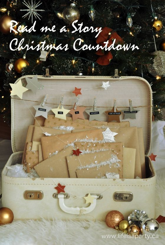 Storybook Advent Calendar: Wrap up 24 great Christmas story books, and let your children pick a new one each night leading up to Christmas to read together at bedtime. The best children's advent calendar ever.