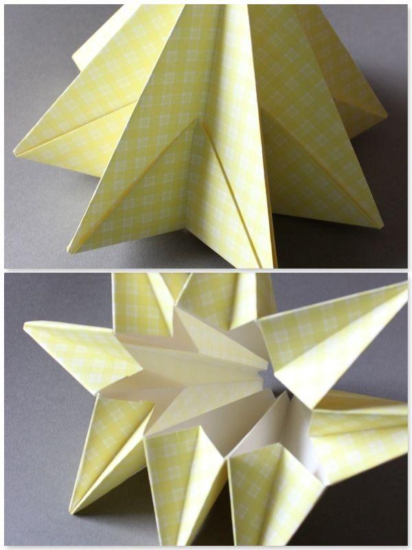 DIY - Origami Sternenhänger Lampe 3