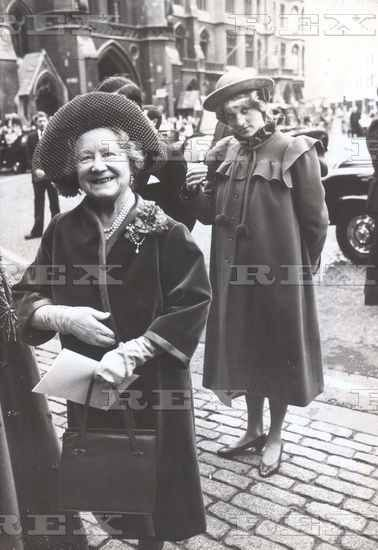 February 28, 1982: Prince Charles & Princess Diana & the Queen Mother leaving the Royal College of Music Centenary Service at Westminster, London.