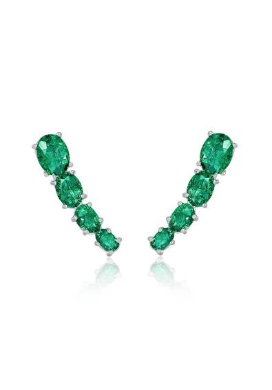 ear-cuff-esmeralda-fusion-prata-semijoias   Jeweled earrings in 2018 ... ce33d4a00c