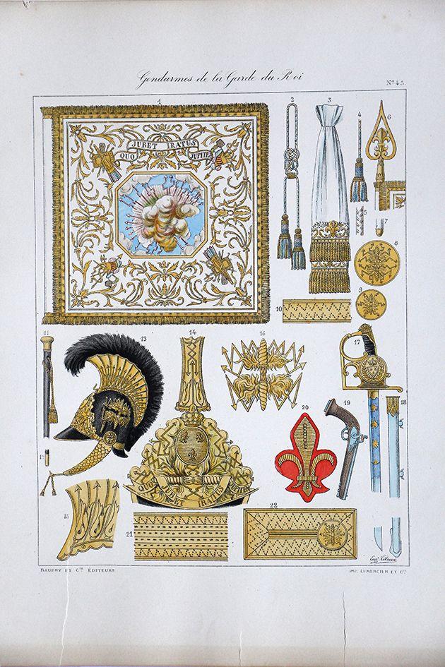 Gendarmes De La Garde Du Roi Histoire De La Maison Militaires Du Roi 1814 1830 Eugene Titeux Militaire Histoire Gendarme