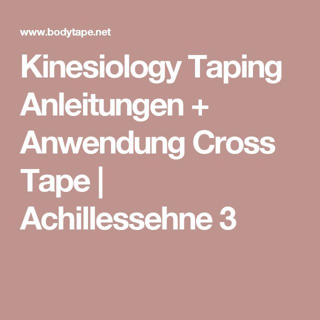 Kinesiology Taping Anleitungen + Anwendung Cross Tape   Achillessehne 3