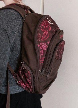 Kaufe meinen Artikel bei #Kleiderkreisel http://www.kleiderkreisel.de/damentaschen/rucksacke/145404536-brauner-rucksack-mit-pinkem-floralen-print