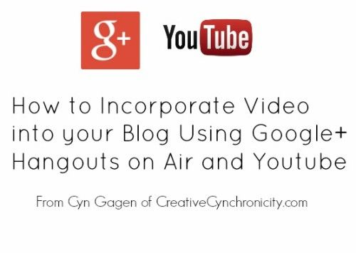 How to Incorporate Google Hangouts on Air into Your Blog - Creative Cynchronicity