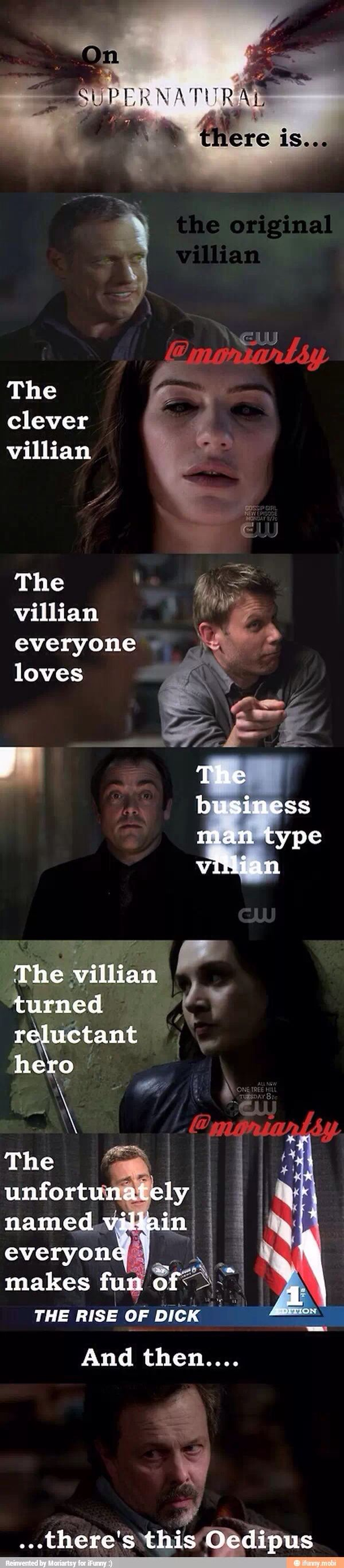 Only Supernatural has THIS MANY awesome/memorable villains. I mean really- what other show even comes close? :D
