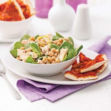Salade de pois chiches et thon