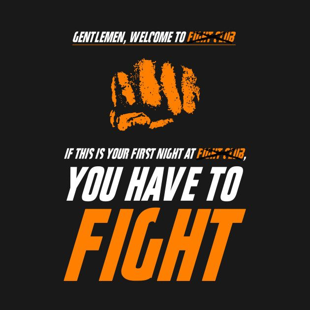 Check out this awesome 'fight+club+orange' design on @TeePublic! $14 shirt Fight Club