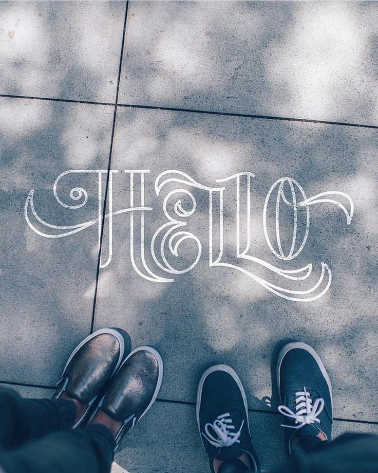 @michaelvilorio - Hello - Craie - Street - Typographie