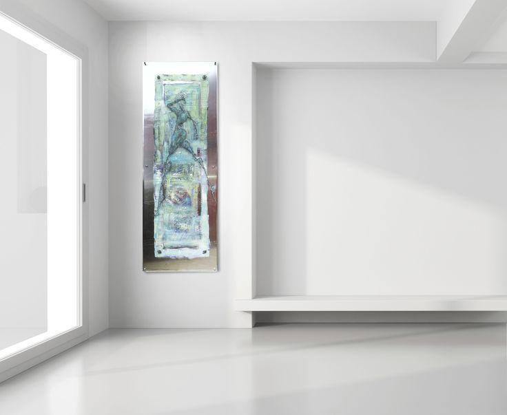 Art by Elisabeth Takvam. Acrylic on aluminium