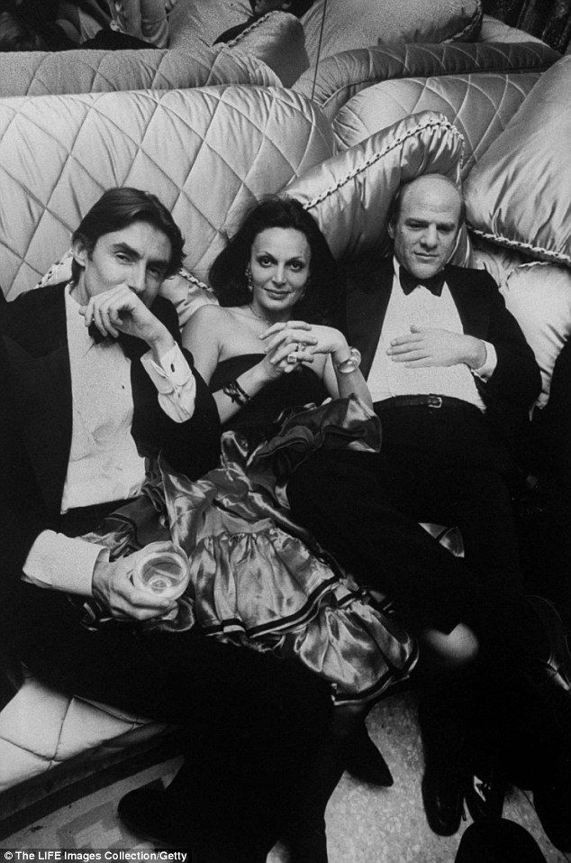 Second love: Barry Diller (right) was gay but when he met the designer, the passion was overwhelming. Their relationship is still baffling to many, she says. 'At times we were separated, at times we were only friends, at times we were lovers, at times we were husband and wife, that's our life.'