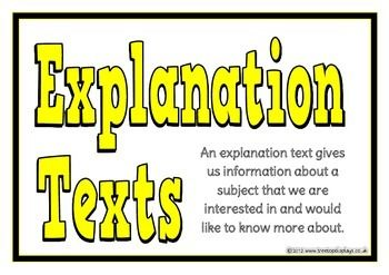 A display of 9 A4 printable posters showing how to write an explanation text. This set comprises of a title poster, using a title, structure, present tense, diagrams and pictures, connectives, examples, using paragraphs and interesting facts. Visit our TpT store for more information and for other classroom display resources by clicking on the provided links.
