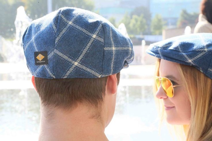 Our natty caps in bespoke blue and white tweed. turnstylewear.com