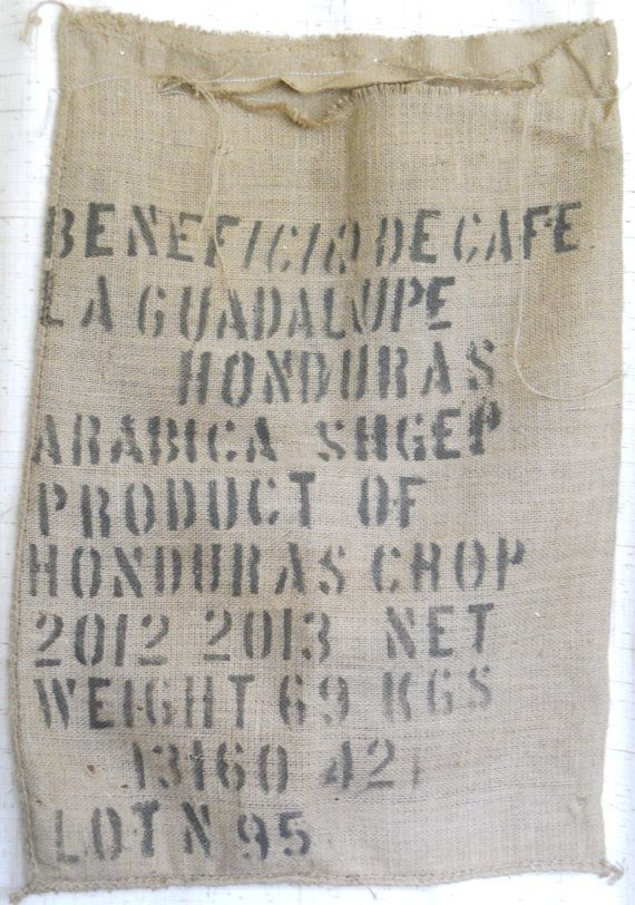 Repurposed Burlap Coffee Bag Hobo And Shoulder With Bamboo Made To Order