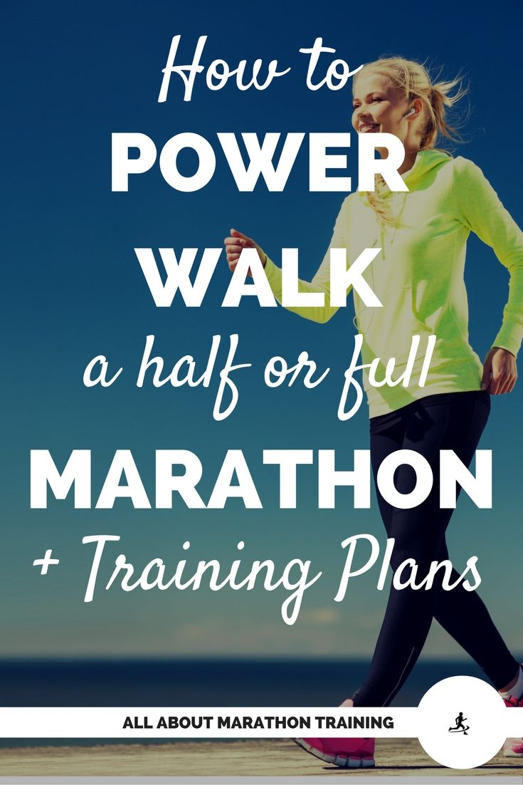 Power walking is a great way to jump into any marathon or half marathon training plan. This page includes the how-to, tips, techniques, and plans!