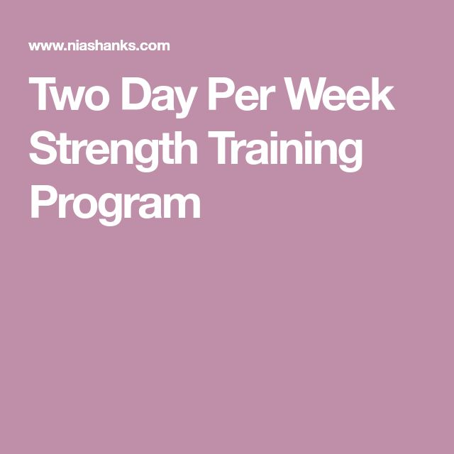 Two Day Per Week Strength Training Program