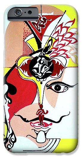 Figure Art IPhone 6s Case featuring the painting Inspirational- Iv by Rupam Shah