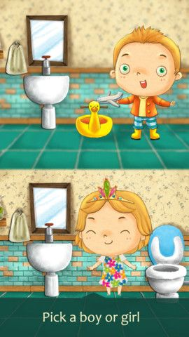 Struggling with Potty Training ... a cute app that might help!
