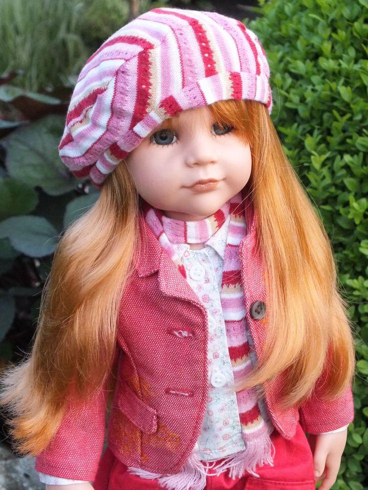 Götz Puppe aus 2006 ☘☘ Manufakturpuppe Sarah mit Hund dog ☘☘ Gotz Doll poupee  | eBay